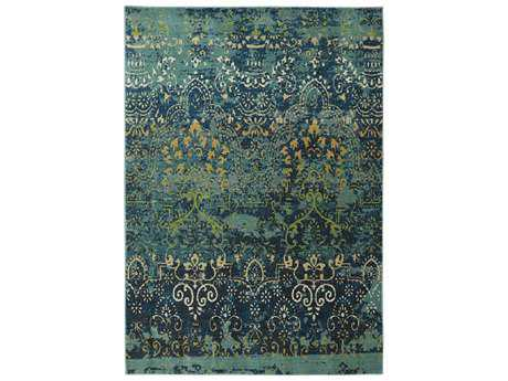 Karastan Rugs Intermezzo Rectangular Deep Teal Area Rug