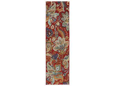 Karastan Rugs Intermezzo 2'4 x 8'3 Rectangular Tomatillo Red Runner Rug