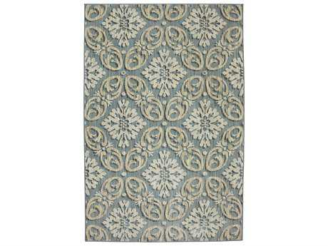 Karastan Rugs Euphoria Findon Rectangular Bay Blue Area Rug