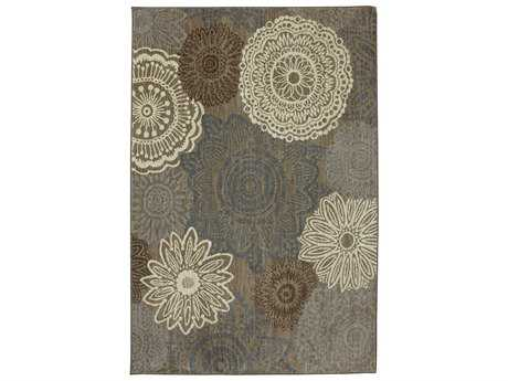 Karastan Rugs Euphoria Mossat Rectangular Brown Area Rug