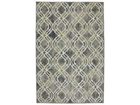 Karastan Rugs Euphoria Potterton Rectangular Ash Grey Area Rug