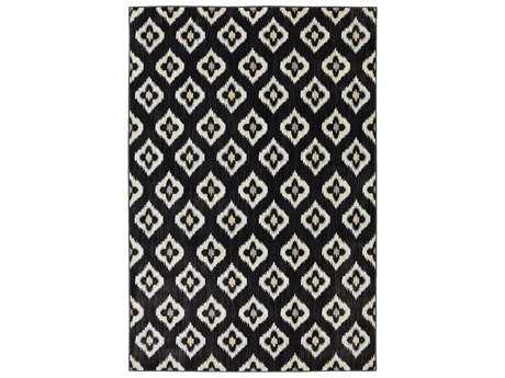 Karastan Rugs Pacifica Briarcliff Rectangular Black Area Rug