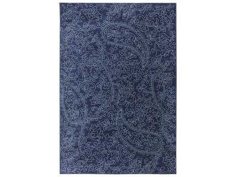 Karastan Rugs Pacifica Kingston Rectangular Indigo Area Rug