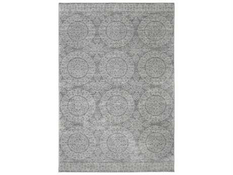 Karastan Rugs Pacifica Leawood Rectangular Grey Area Rug