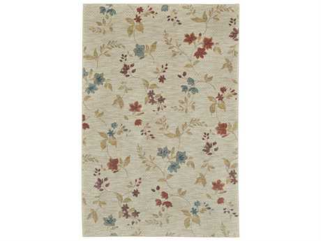 Karastan Rugs Pacifica Rectangular Sterling Beige Area Rug
