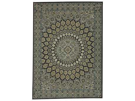Karastan Rugs Touchstone Mahon Rectangular Blue Teal Area Rug