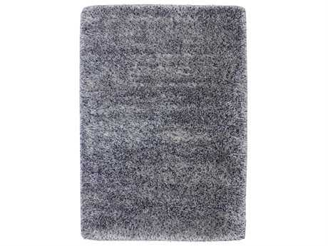 Karastan Rugs After 5 Shag Rectangular Blue & Silver Area Rug