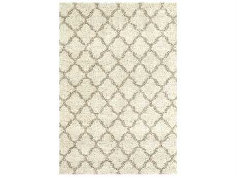 Karastan Rugs Prima Shag Temara Rectangular Lattice Camel Area Rug