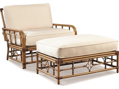 Lane Venture Mimi By Celerie Kemble Raffia Aluminum Cuddle Chair