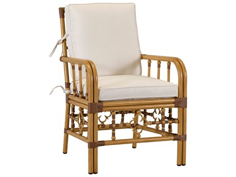 Lane Venture Mimi By Celerie Kemble Raffia Aluminum Dining Arm Chair