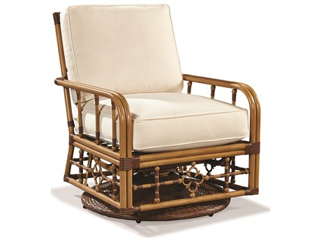 Lane Venture Mimi By Celerie Kemble Raffia Aluminum Swivel Glider Lounge Chair