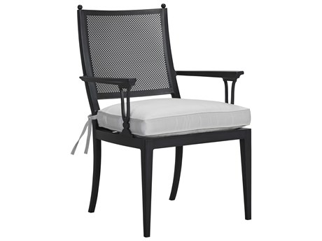 Lane Venture Winterthur Obsidian Black Aluminum Dining Arm Chair