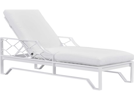 Lane Venture Biscayne Bay White Sand Aluminum Chaise Lounge