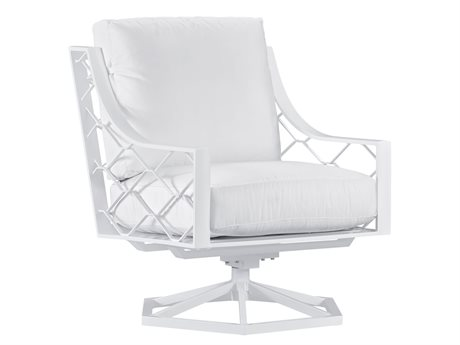 Lane Venture Biscayne Bay White Sand Aluminum Swivel Rocker Lounge Chair