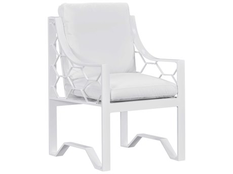 Lane Venture Biscayne Bay White Sand Aluminum Dining Chair