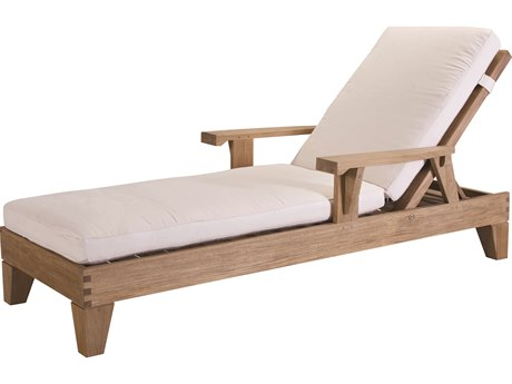 Lane Venture Saranac Teak Adjustable Lounge Chaise