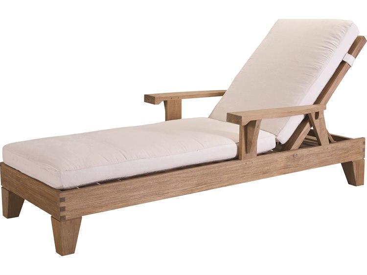 Lane Venture Saranac Natural Teak Adjustable Lounge Chaise