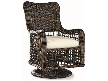 Lane Venture Moraya Bay Wicker Swivel Dining Arm Chair