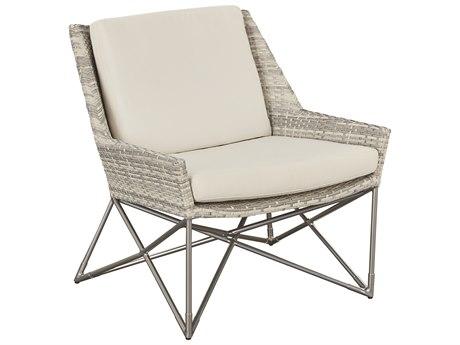 Lane Venture Jewel Chalk White Wicker Lounge Chair