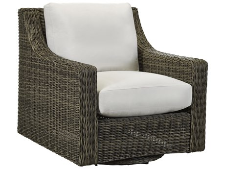 Lane Venture Oasis Ash Wicker Swivel Glider Lounge Chair