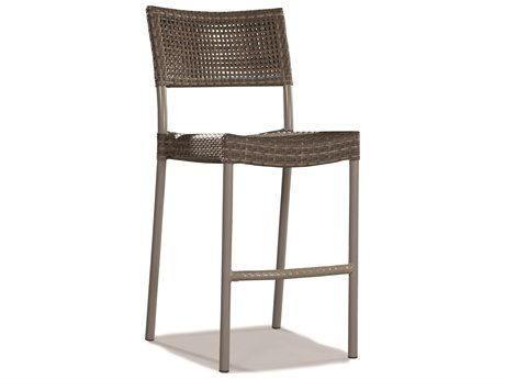Lane Venture St. Simons Driftwood Wicker Stackable Bar Height Dining Chair