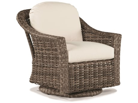 Lane Venture St. Simons Driftwood Wicker Swivel Glider Lounge Chair