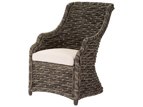 Lane Venture Hemingway Driftwood Wicker Dining Arm Chair PatioLiving