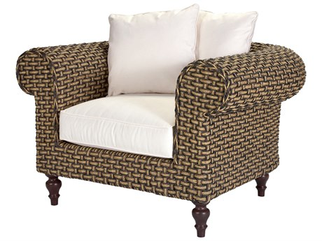 Lane Venture Hemingway Rich Tobbaco Wicker Chesterfield Lounge Chair