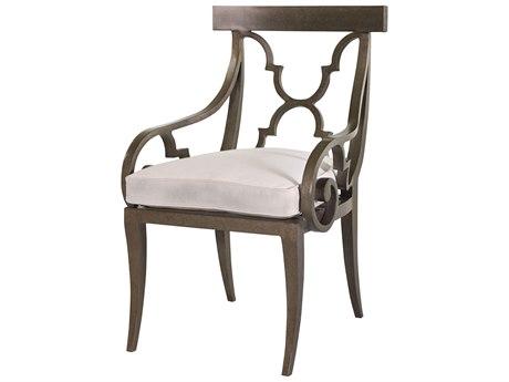 Lane Venture Hemingway Aged Gun Aluminum Florentine Dining Arm Chair PatioLiving
