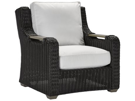Lane Venture Ernest Hemingway Coffee Wicker Lounge Chair