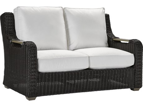 Lane Venture Hemingway Cay Coffee Wicker Loveseat