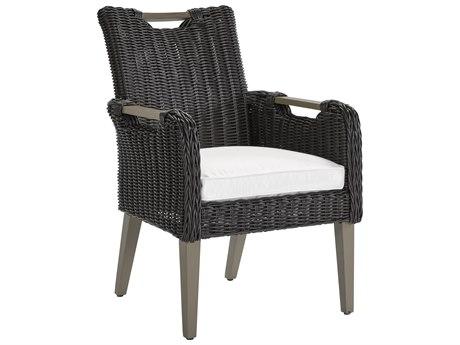 Lane Venture Hemingway Cay Coffee Wicker Dining Arm Chair