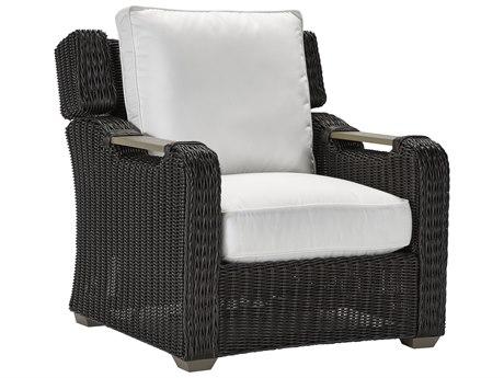 Lane Venture Ernest Hemingway Coffee Wicker Press Back Lounge Chair