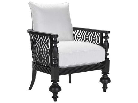 Lane Venture Hemingway Plantation Black Truffle Cast Aluminum Accent Chair