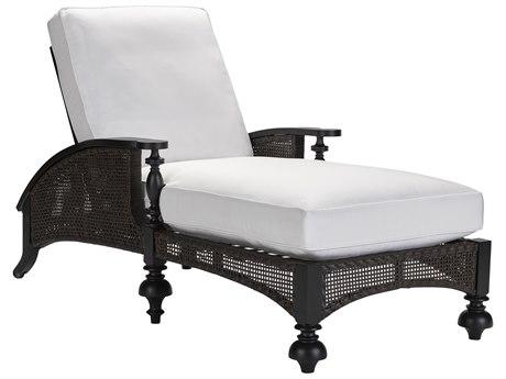 Lane Venture Hemingway Plantation Black Truffle Cast Aluminum Adjustable Chaise