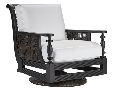 Lane Venture Hemingway Plantation Black Truffle Cast Aluminum Swivel Rocker Lounge Chair