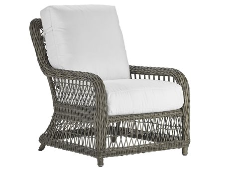 Lane Venture Mystic Harbor French Grey Wicker Lounge Chair