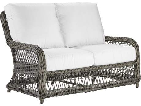 Lane Venture Mystic Harbor French Grey Wicker Loveseat