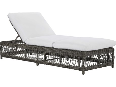 Lane Venture Mystic Harbor French Grey Wicker Chaise Lounge