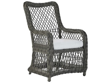 Lane Venture Mystic Harbor French Grey Wicker Dining Chair