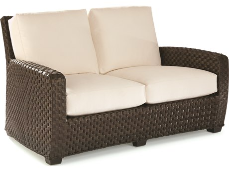 Lane Venture Leeward Dark Godiva Wicker Loveseat