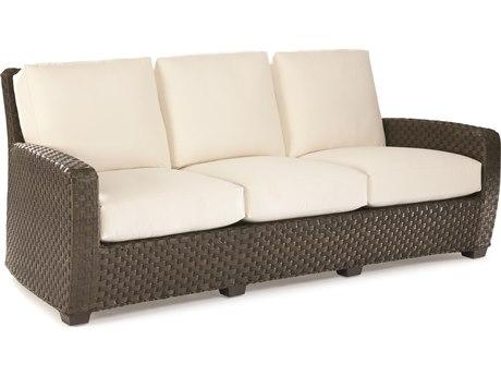 Lane Venture Leeward Dark Godiva Wicker Sofa