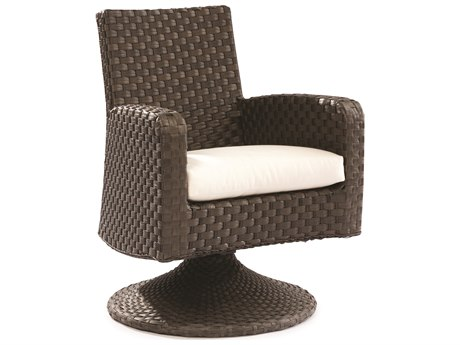 Lane Venture Leeward Godiva Wicker Swivel Dining/Game Chair