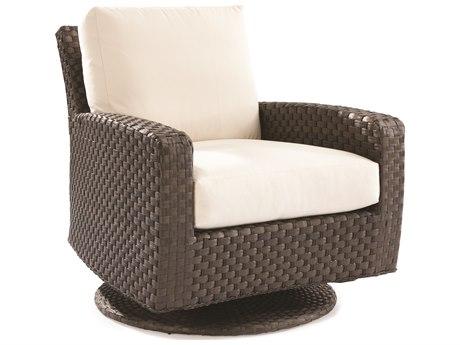 Lane Venture Leeward Godiva Wicker Swivel Glider Lounge Chair