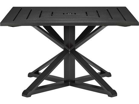 Lane Venture Sonoma Dark Bronze Aluminum 49''Wide Square Dining Table with Umbrella Hole