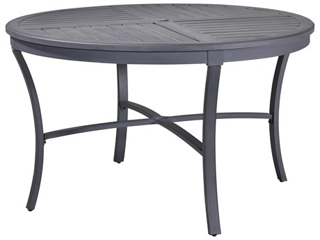Lane Venture Raleigh Cast Aluminum 50''Wide Round Dining Table with Umbrella Hole