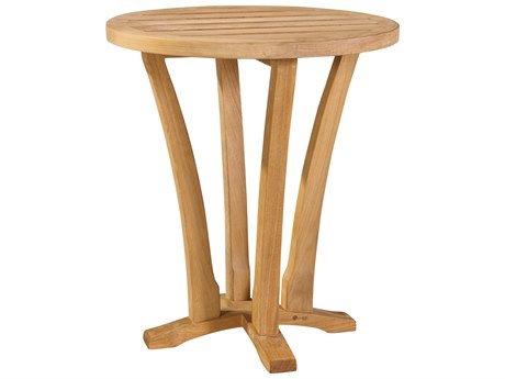 Lane Venture Edgewood Teak 18''Wide Round Accent Table