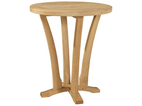 Lane Venture Aura Teak 18''Wide Round Accent Table