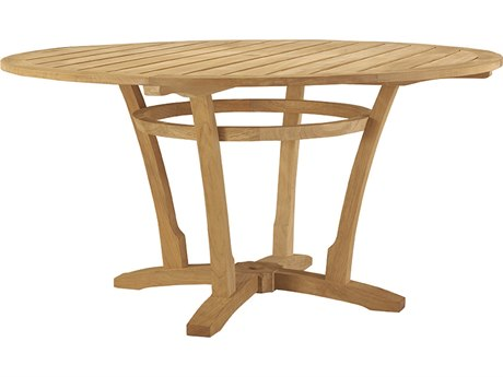 Lane Venture Aura Teak 48''Wide Round Dining Table with Umbrella Hole