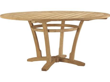 Lane Venture Aura Teak 62''Wide Round Dining Table with Umbrella Hole